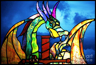 Stained Glass Dragon Poster