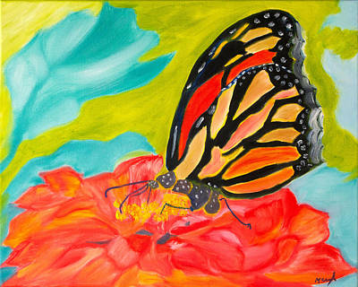 Stained Glass Flutters Poster