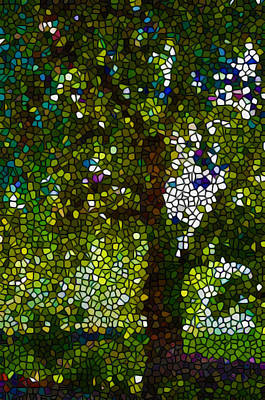 Stained Glass Forest Trees Poster by Lanjee Chee
