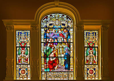 Stained Glass Window Cathedral St Augustine Poster