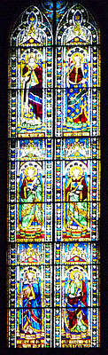 Stained Glass Window Of Duomo Santa Maria Del Fiore Poster by Irina Sztukowski