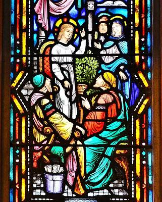 Stained Glass Windows At St. Edmond Church 1 - Rehoboth Beach Delaware Poster