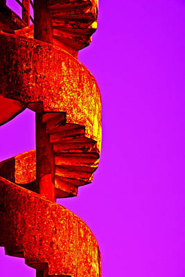 Poster featuring the photograph Staircase Abstract by Dennis Cox WorldViews