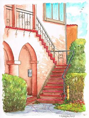 Stairs And Arch Around Plummer Park-west Hollywood-california Poster by Carlos G Groppa