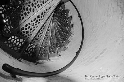 Stairs At The Fort Gratiot Light House Poster by LeeAnn McLaneGoetz McLaneGoetzStudioLLCcom