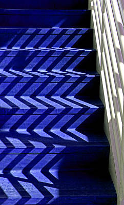Stairs Of Blue Poster by Christopher McKenzie