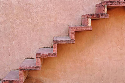 Stairs On Wall, Fatehpur Sikri Poster by Adam Jones
