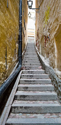 Stairway Along Walls, Gamla Stan Poster by Panoramic Images