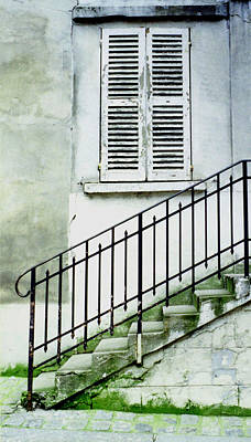 Poster featuring the photograph Stairway In Paris by Mary Bedy