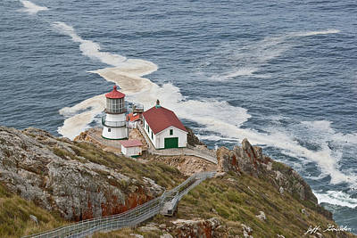 Stairway Leading To Point Reyes Lighthouse Poster by Jeff Goulden