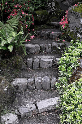 Stairway Path To Gardens Poster