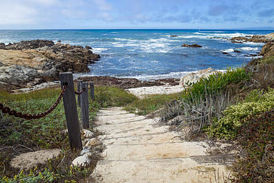 Stairway To Asilomar State Beach Poster