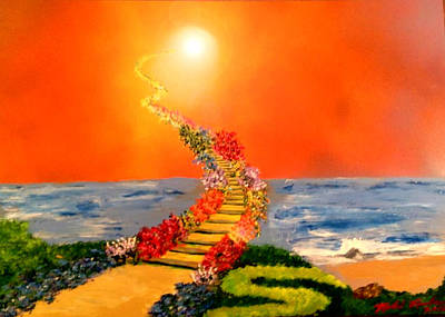 Poster featuring the painting Stairway To Heaven by Michael Rucker