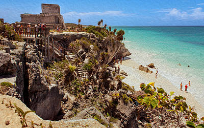 Stairway To The Tulum Beach  Poster