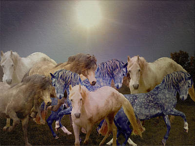 Stallions On Stage As Vivaldi's Spring Plays Poster by Patricia Keller