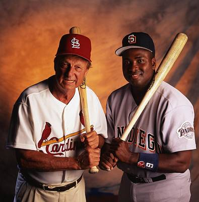 Stan Musial And Tony Gwynn Poster by Retro Images Archive