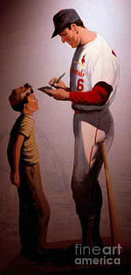 Stan Musial Mural Poster by Tracy Knauer