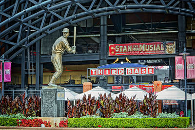 Stan Musial Statue At Busch Stadium St Louis Mo Poster by Greg Kluempers