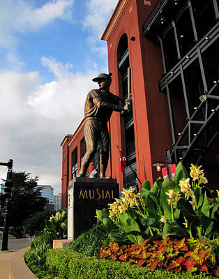 Stan Musial Statue Poster