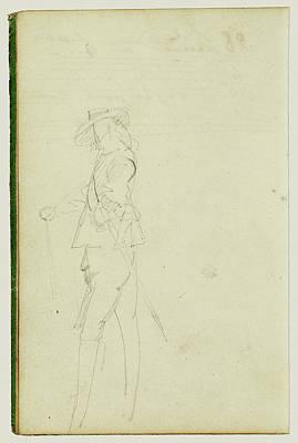 Standing Cavalier Théodore Géricault, French Poster