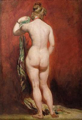 Standing Female Nude Poster by William Etty
