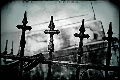Standing Guard By Loved Ones - Bw Texture Poster