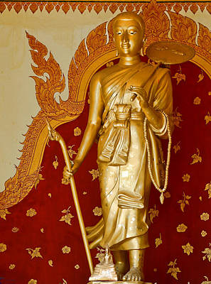 Standing Large Gold Budda Poster by Linda Phelps