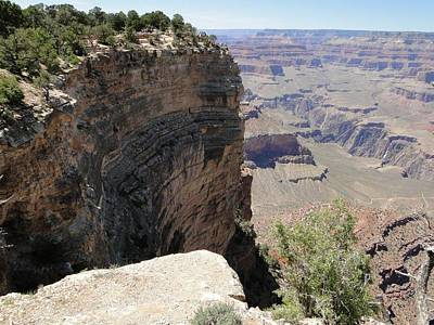 Standing On The Edge Of Life And Death At The Grand Canyon Poster
