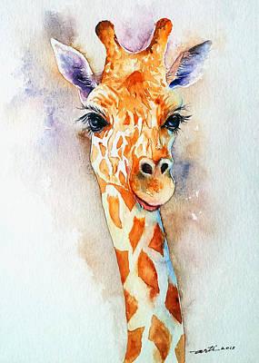 Standing Tall_giraffe Poster by Arti Chauhan