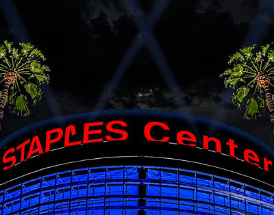 Staples Center - Downtown Los Angeles Poster by Brian Yasumura Jr