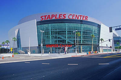 Staples Center, Home To The Nbas Los Poster