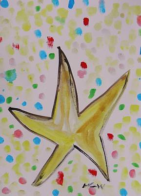 Star Amongst The Sea Glass Poster by Mary Carol Williams