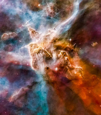 Star-forming Region In The Carina Nebula - Detail 1 Poster by Marco Oliveira