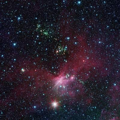Star-forming Region Poster by Nasa/jpl-caltech/university Of Wisconsin