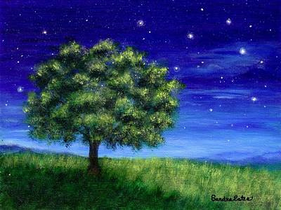 Poster featuring the painting Star Gazing by Sandra Estes