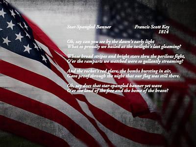 Star Spangled Banner  Poster by Ella Kaye Dickey
