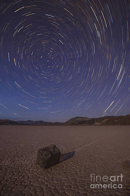 Star Trails At The Racetrack Playa Poster