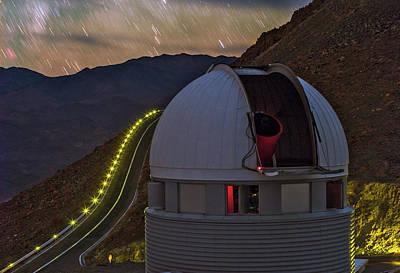 Star Trails Over Observatory Poster