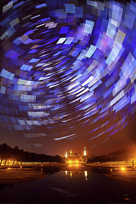 Star Trails Over Schwerin Palace Poster by Babak Tafreshi