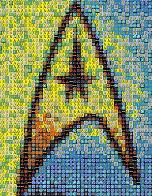 Star Trek Emblem Mosaic Poster by Paul Van Scott