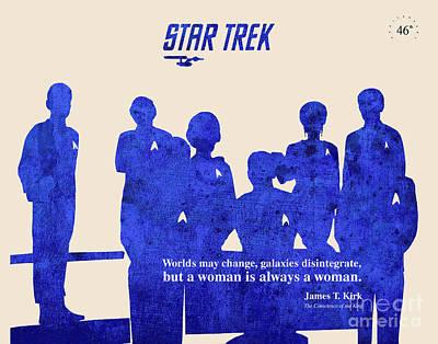 Star Trek Original - Captain Kirk Quote Poster by Pablo Franchi