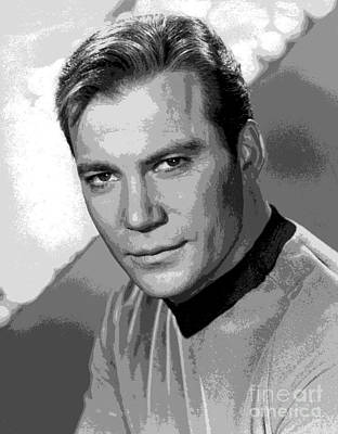 Star Trek William Shatner Pre 1970 Poster by R Muirhead Art