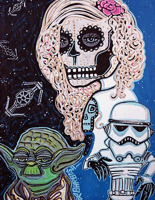Star Wars Sugar Skull Poster by Laura Barbosa