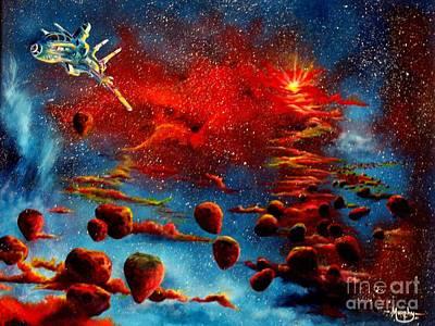 Starberry Nova Alien Excape Poster by Murphy Elliott