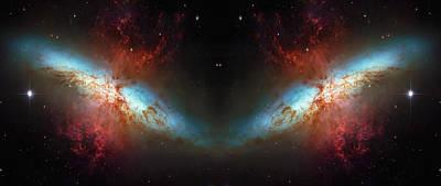 Starburst Galaxy Reflection Poster