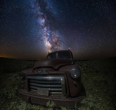 Stardust And Rust Gmc  Poster by Aaron J Groen
