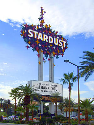 Stardust Sign Poster by Mike McGlothlen