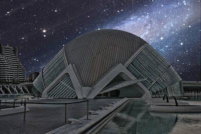 Starfall On Planetary Poster by Angel Jesus De la Fuente