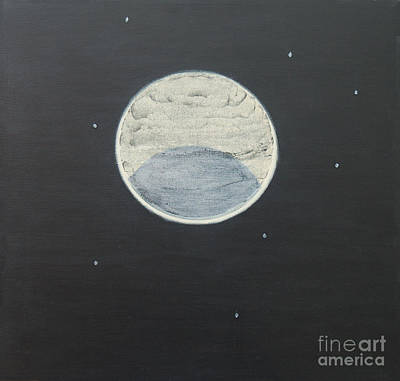 Poster featuring the painting Starlight by Mini Arora