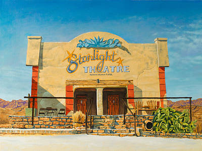 Starlight Theatre Terlingua Poster by Karl Melton